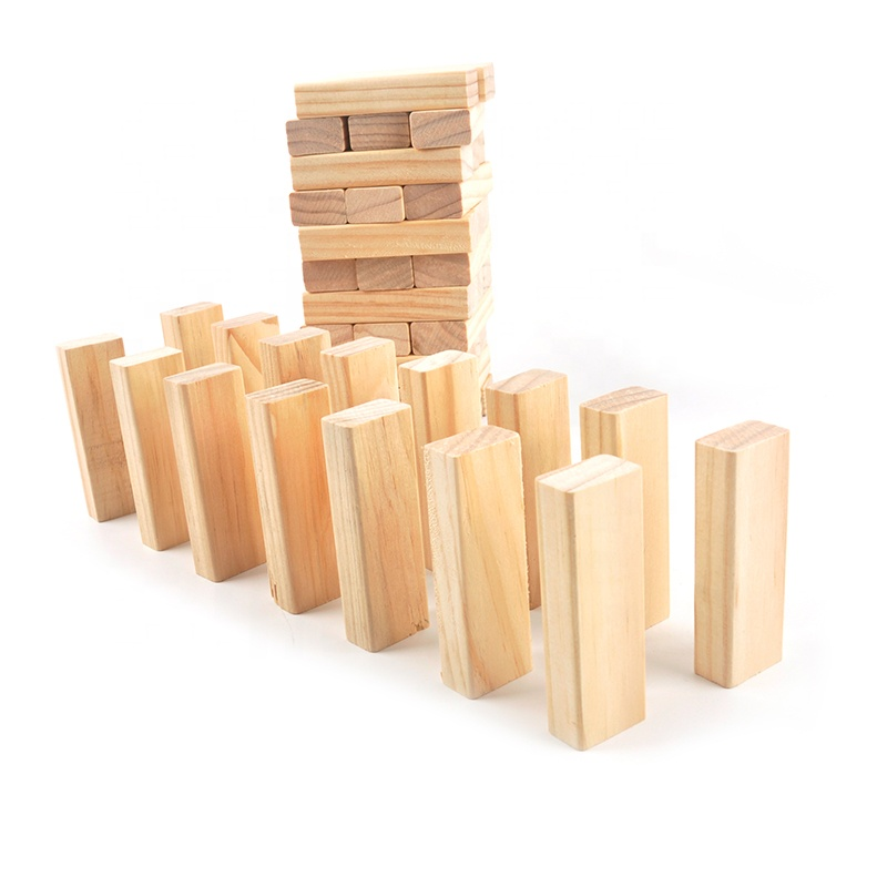 54 pcs stapelen blokken spel tumbling tower houten bouwsteen tower game