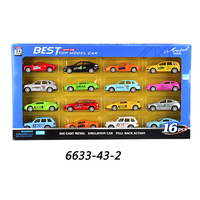 1:64 die cast set 16pcs racing simulation car