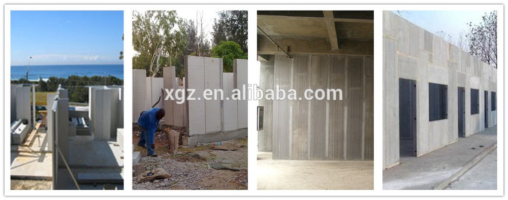 XGZ In villa used foamed concrete blocks cement wall board insulation wall