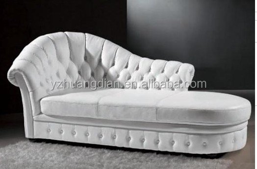 customized Recline chase <strong>sofa</strong> with leather upholstery factory YG020