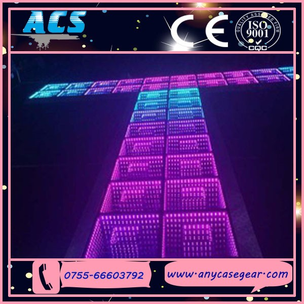 dance lighting Mirror reflect 3D Deep Tunnel RGB 3D dance floor