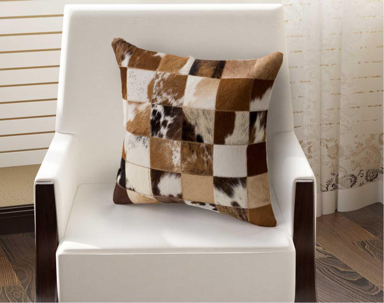 Cow Skin Pillow Hair On Hide
