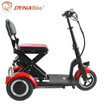 Dynavolt lightweight 3 wheel folding electric disabled mobility handicap scooter