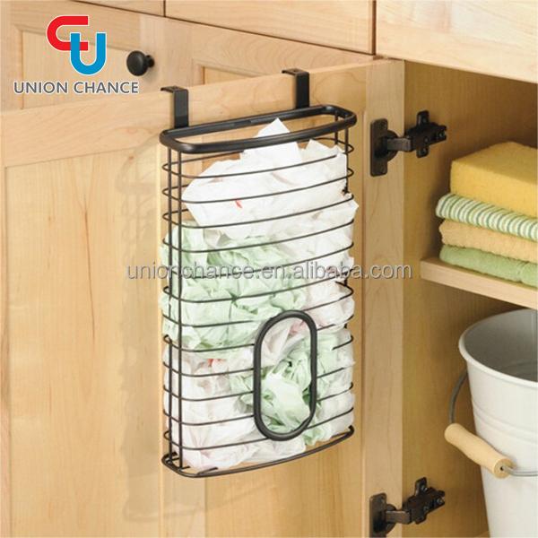Door Hanging Rack Kitchen Hanging Basket Chrome Plated Storage Basket