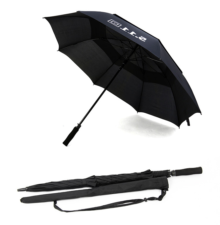 Automatic Open Close Outdoor Promotional Double layer Canopies FRP fiberglass Chineses 511 Golf Umbrella with 8 Ribs