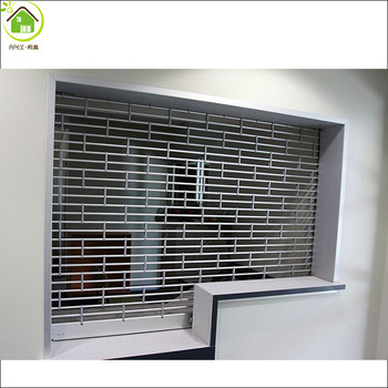 Aluminum And Steel Door Commercial Roll Up Door / Store Front Security  Grilles/rolling Grill