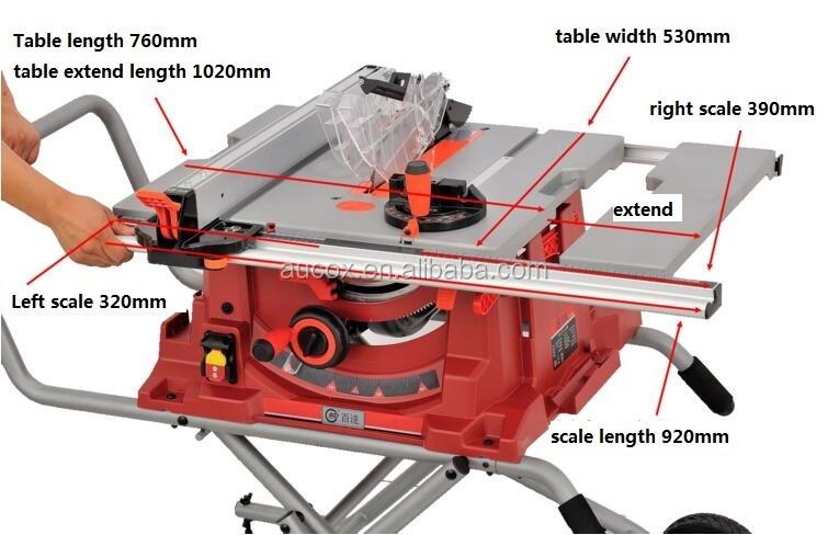 Houtbewerking machine 10 inch rolwagen cirkelzaag 220 V 50Hz