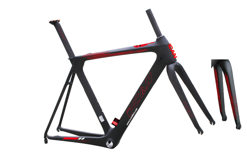 2015 chinese carbon road bike frame aero 700c bicycle frame fork seat post BB86 DI2 compatiable AERO 007