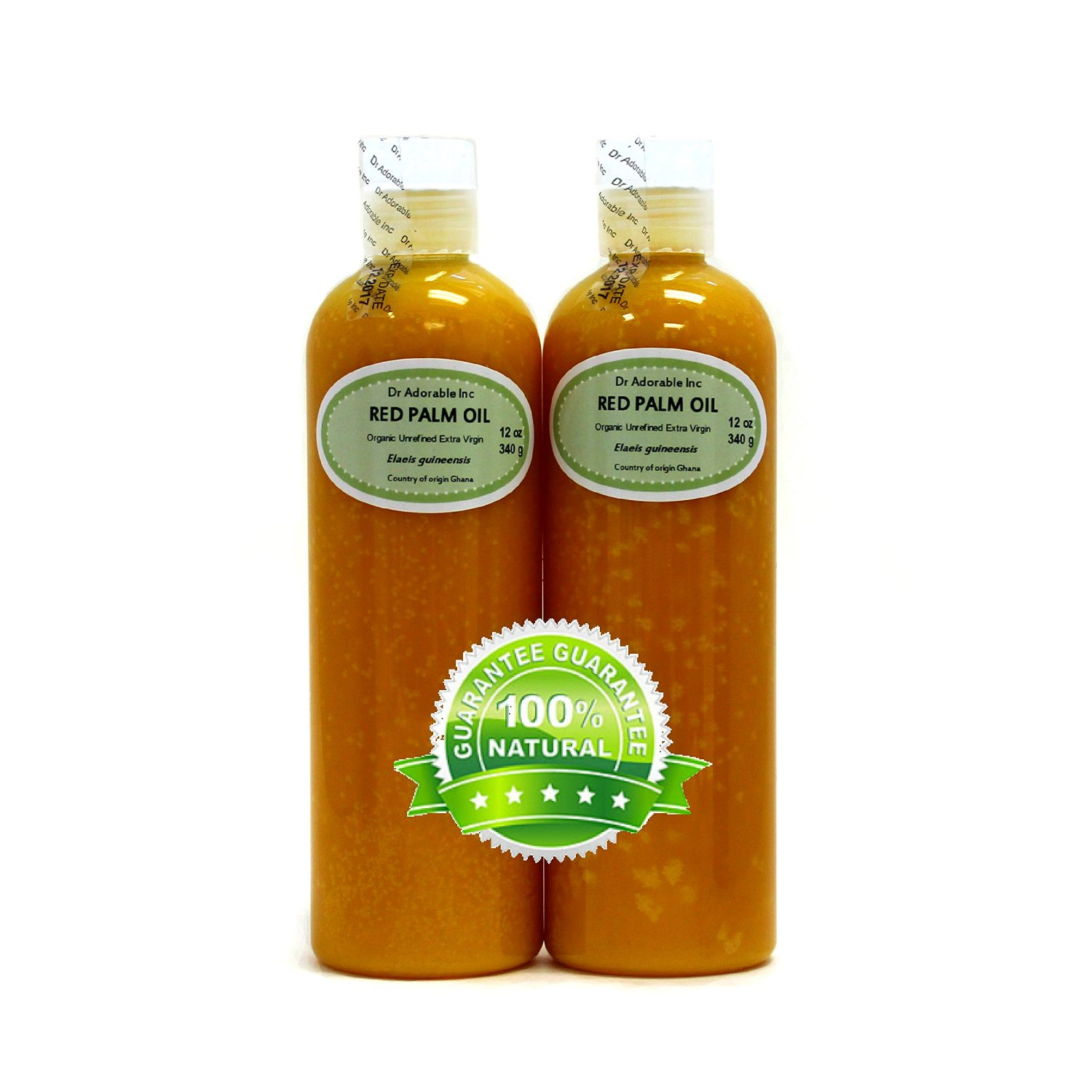 24 Oz Raw Extra Virgin Red Palm Oil Organic Unrefined (2 of 12 Oz bottles)