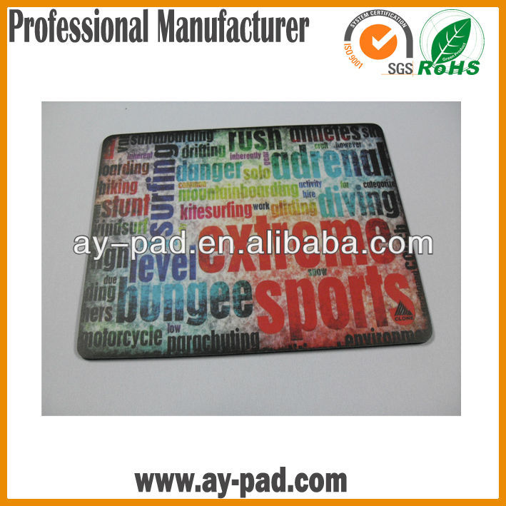 AY Promotional Gift Mouse Mat, Anti -slip Rubber back Rolling up Computer Mouse Pad