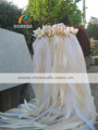 FREE SHIPPING 50Pieces Lot Style D cream ribbon lace wedding wands with bell Wedding Ribbon Stick