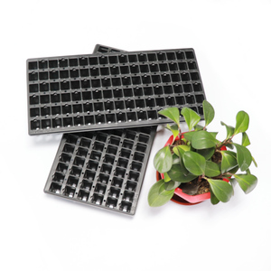 105 cells plastic trays seed starter nursery flower pot growing plant flat tray