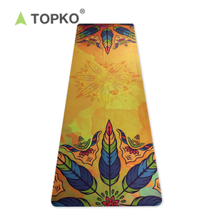 TOPKO Wholesale Custom Printed Anti Slip Microfiber Yoga Towel with Silicone Dots