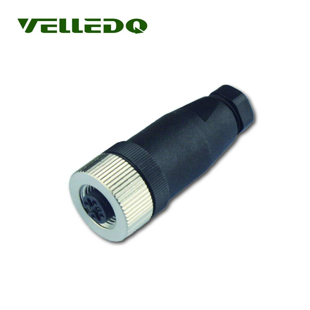 uxcell M12 Male Straight 5Terminals Core Aviation Connector Electrical Cable 2M Long