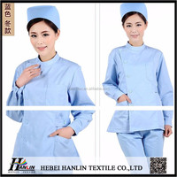 china supplier TC medical nurse workwear fabric for hospital health care fabric