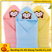 Little monkey ecological cotton filling baby hooded towel