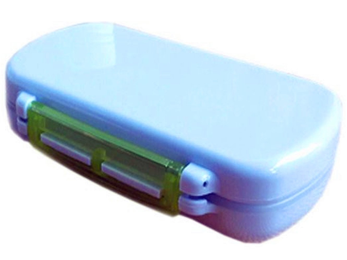 Kangkang@ Portable 6 Compartment Portable Pill Box, Green Portable PCS Six Take Care to Receive Pill Boxes