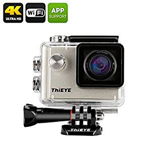 ThiEYE i60 4K Action Camera - 4MP SONY CMOS, 1.5 Inch TFT Display, 152 Degree Lens, Wi-Fi, Image Stabilizer (Silver)