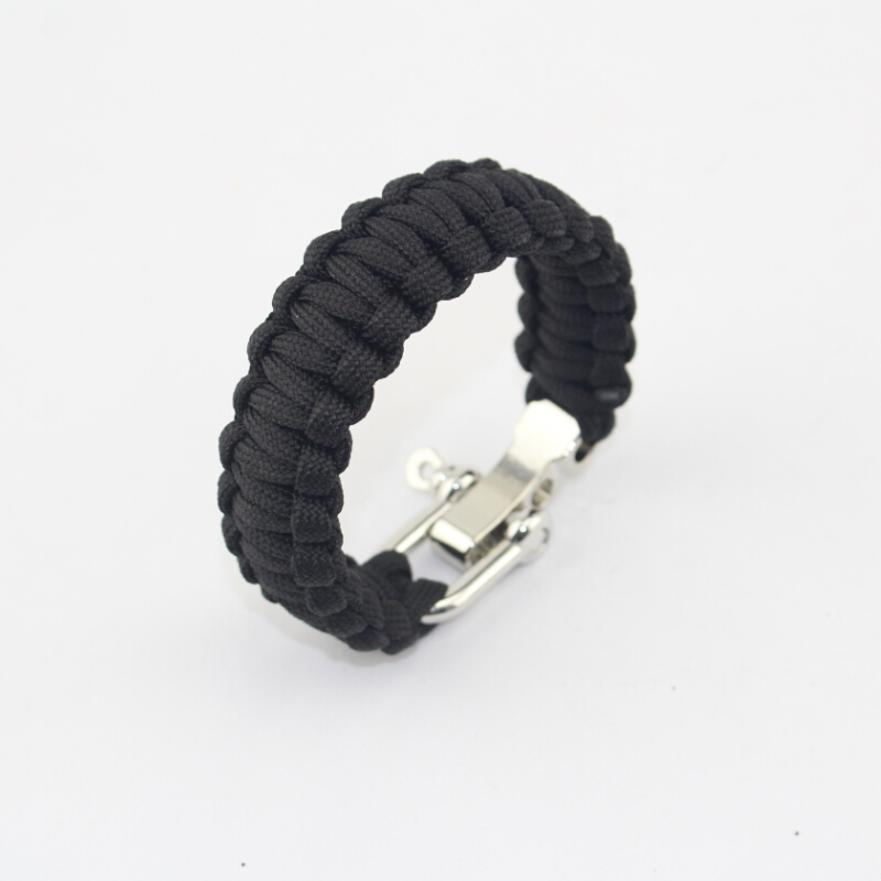 Camping sports 550 OEM Metal survival bracelet with metal adjustable buckle