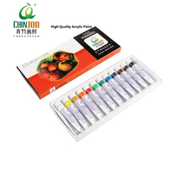 12ml x 24 Acrylic Color Tubes Non-Toxic Acrylic paint set for students & artist