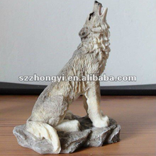 resin wolves ornaments wolf craft
