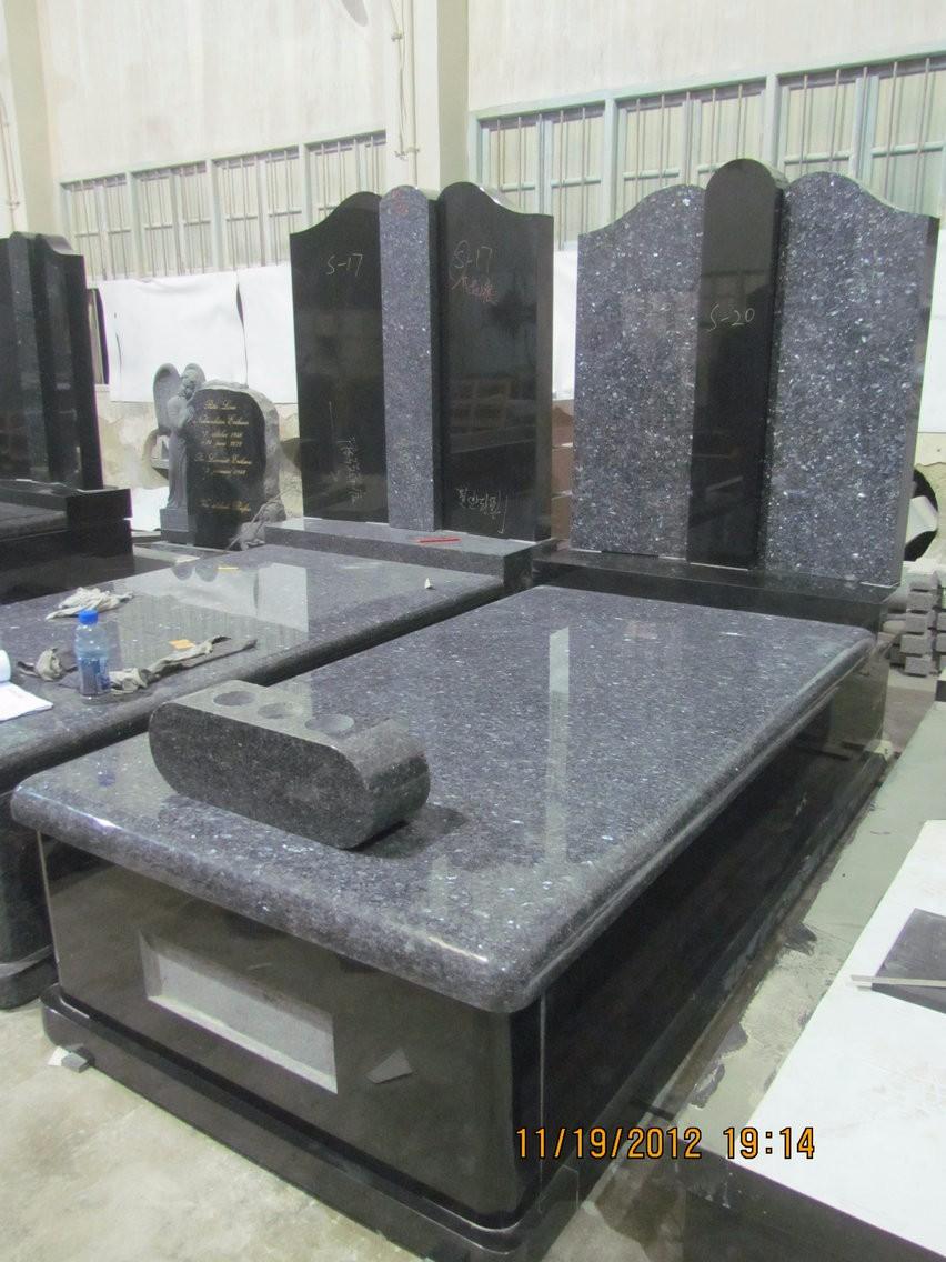 Haobo Stone American Style Black Granite Angel Headstones