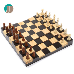 Chess 3D Pine Wood Inlaid Chess Themes Color Hand Painted Vintage Chess