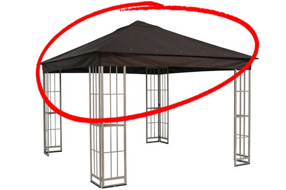 The Outdoor Patio Store Replacement Canopy for Garden Treasures 10'x10' Canopy for S-J-109DN in Dark Brown