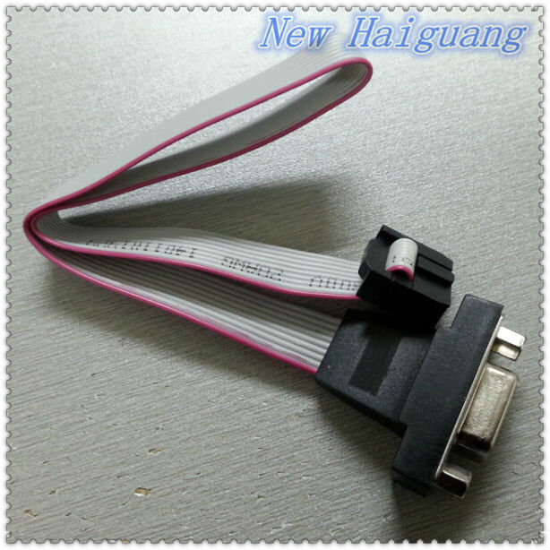 D-sub plug,IDC 2*5 PIN to DB9 Female Connector Flat Ribbon Cable Console/Game connector