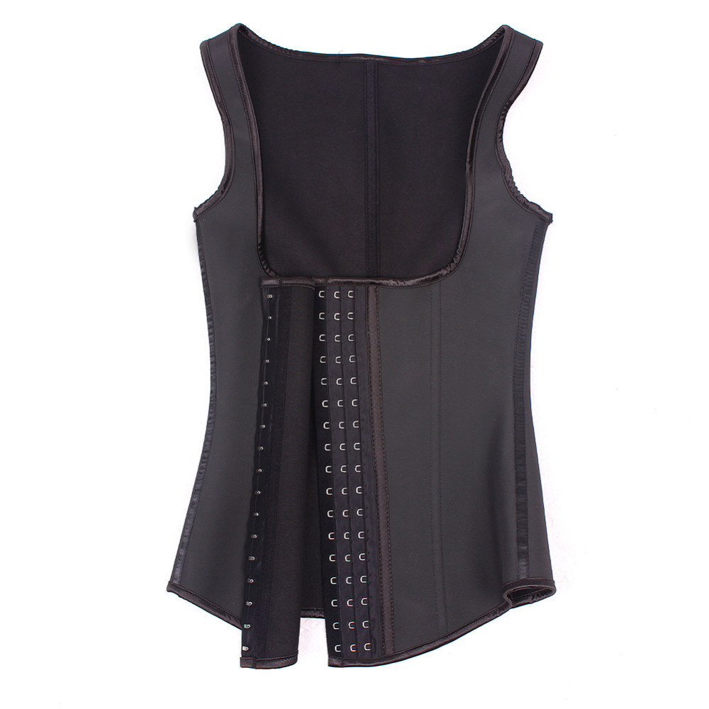f5c540a911c09 Buy New Black Latex Corset Body Shaper Cotton Steel Boned Corset Latex  Waist Cincher Waist Training Corsets Sexy Corpete Corselete 3 in Cheap  Price on ...