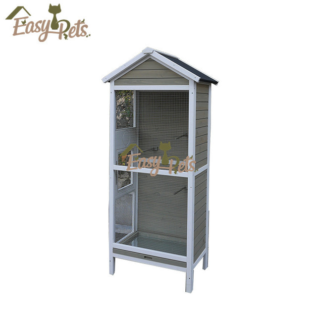 Outdoor Bird Cage New Unfinished Wooden Bird House Wholesale