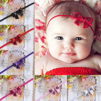 toddler hair accessory sweet baby girl sequins bowknot headbands