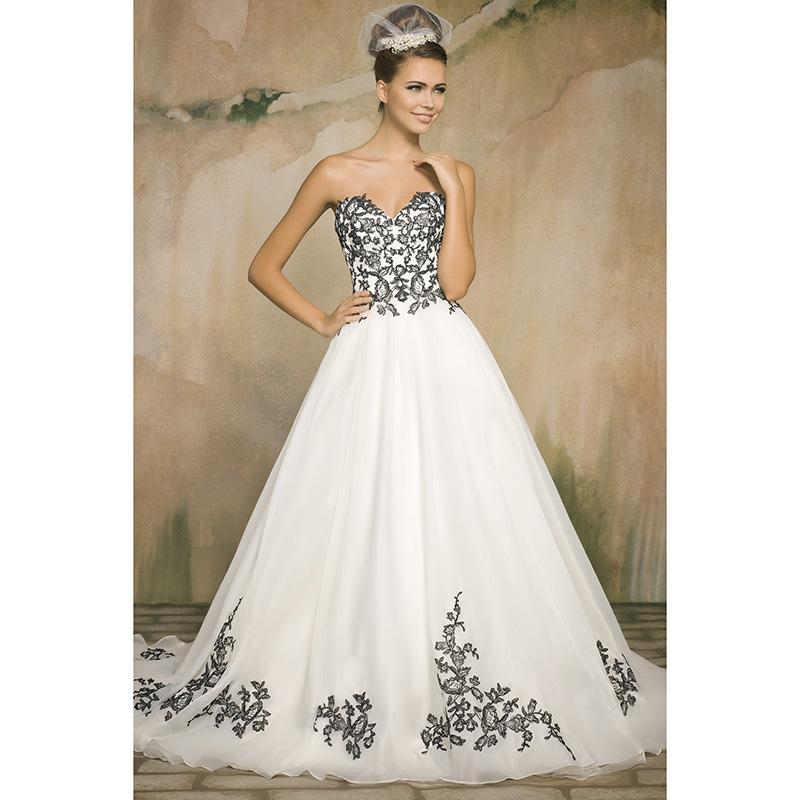 Aliexpress.com : Buy White Organza Black Lace Wedding