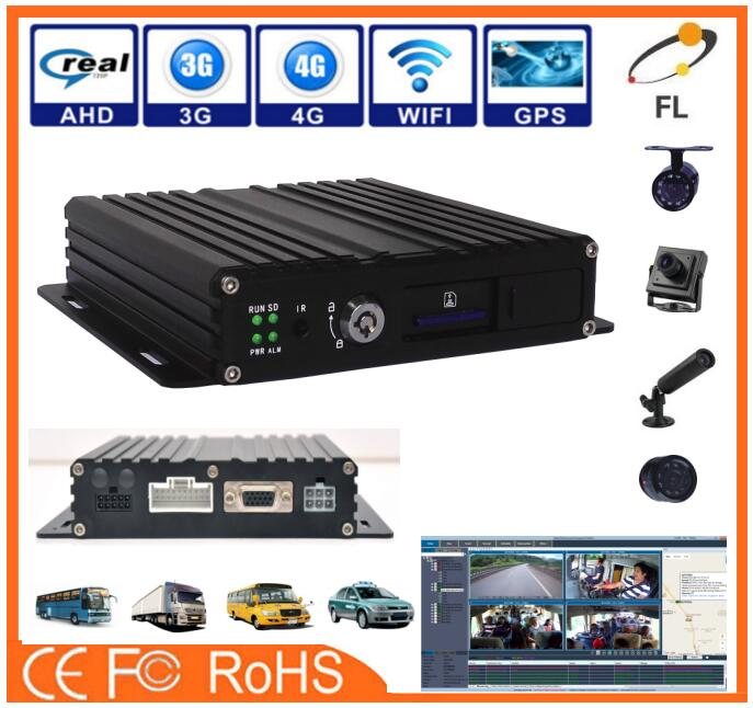 best selling vehicle MDVR high stable free Player supported playback Mobile with 3g 4g wifi optional