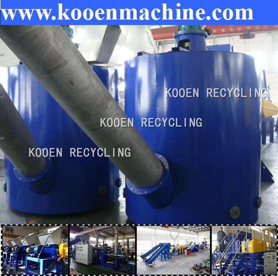 World famous brand waste pet flakes granulating line recycling machine