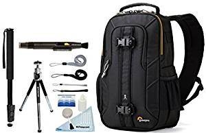 Lowepro Slingshot Edge 150 AW Photo / Tablet Camera Sling Backpack + Accessory Bundle For Canon, Nikon, Sony, Olympus, Pentax Digital SLR Cameras
