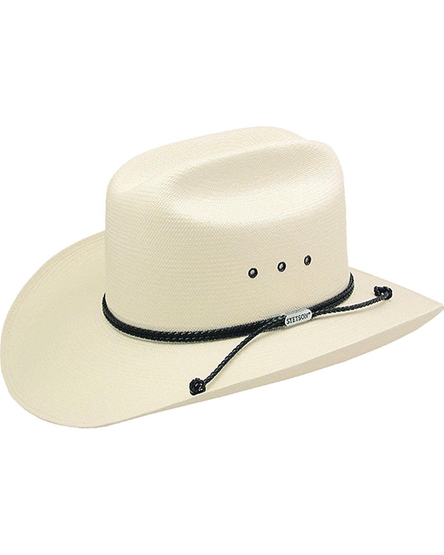 e3e7f12f3ba Get Quotations · Stetson Men s Carson 10X Shantung Straw Cowboy Hat -  Sscrcmk6036