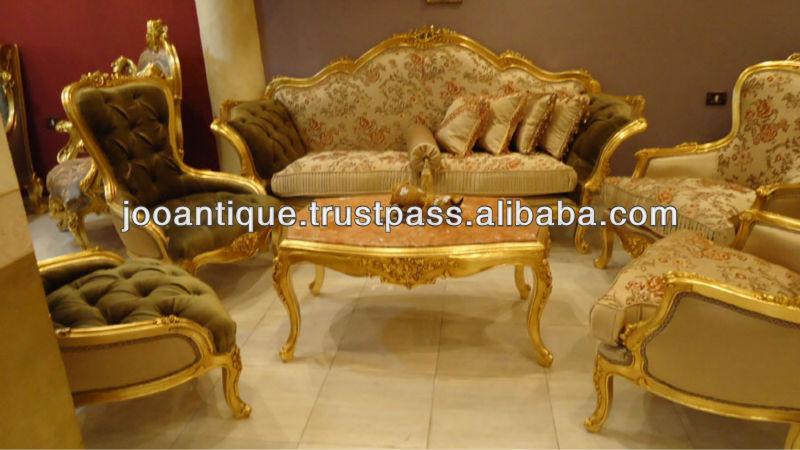 French Antique Living Room Sofa Set