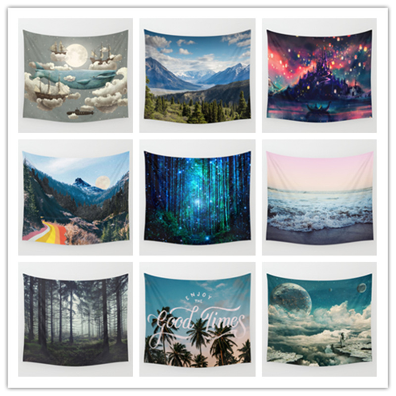 Custom Made Polyester Digital Print Cheap hanging Wall apestry