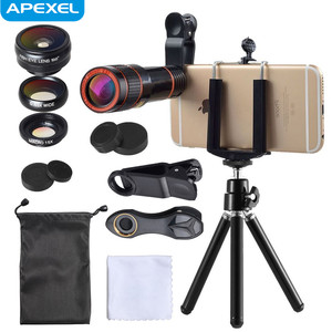 Universal Clip Lens 4 in 1 Fisheye Lens, Mobile Phone Optical Zoom Camera Lens Kit