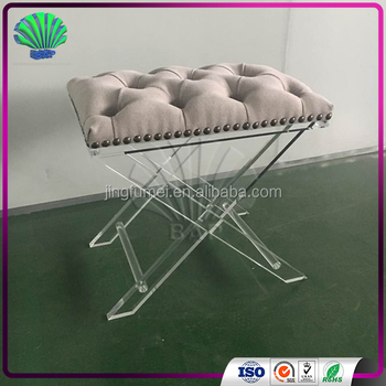 Luxury Acrylic Furniture Plexiglass Sofa Legs Clear Acrylic Bench Supplier