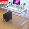 Easy to install Z Type Toughened Glass Computer Laptop Desk Study Table Workstation Home Furniture