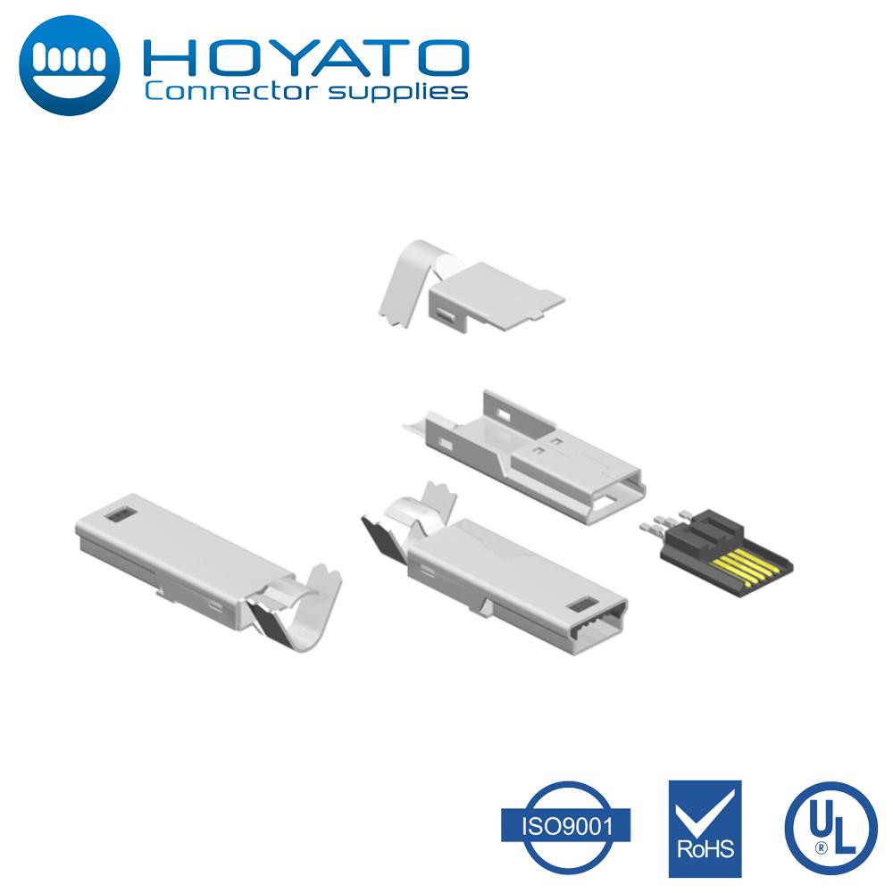Bandeja de USB B montaje de PCB enchufes