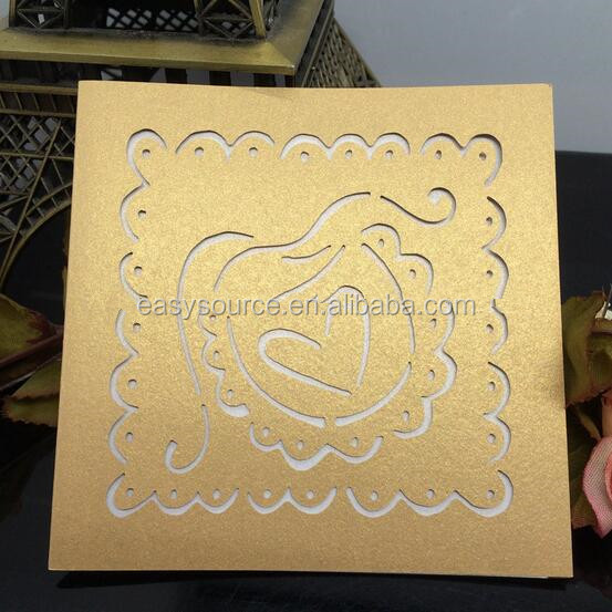 christmas cards buy direct from china manufacturer Greeting Cards laser cut wedding invitation card HK63