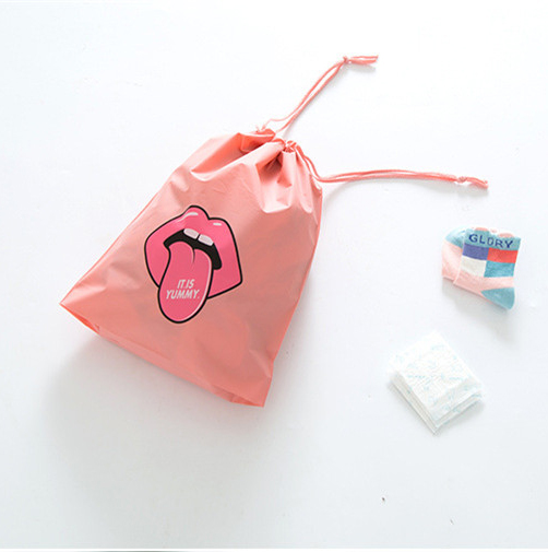 Travel bag waterproof pouch pocket packaging finishing clothes drawstring bag