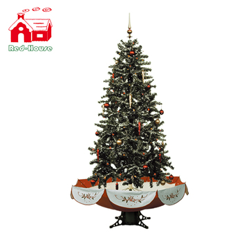 smart sparking led fairy christmas tree ornaments snowing christmas tree with umbrella base - Umbrella Christmas Tree