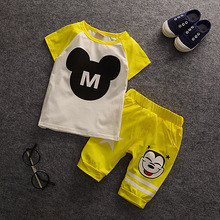 Baby Boys Clothes Mickey Shorts Sets Children Cartoon Animal Carters Suit Baby Girls Summer Vetement Bebe