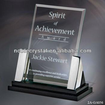 Customer Spirit Of Achievement Glass Frame Award Plaque Design ...