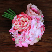 Party Wedding Bridal Silk Posy Roses Flower Bouquets