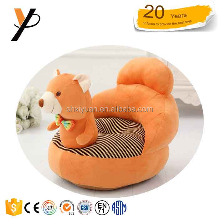 Wholesale Plush Baby Animal Sofa Chair Stuffed Animal Chairs For Kids